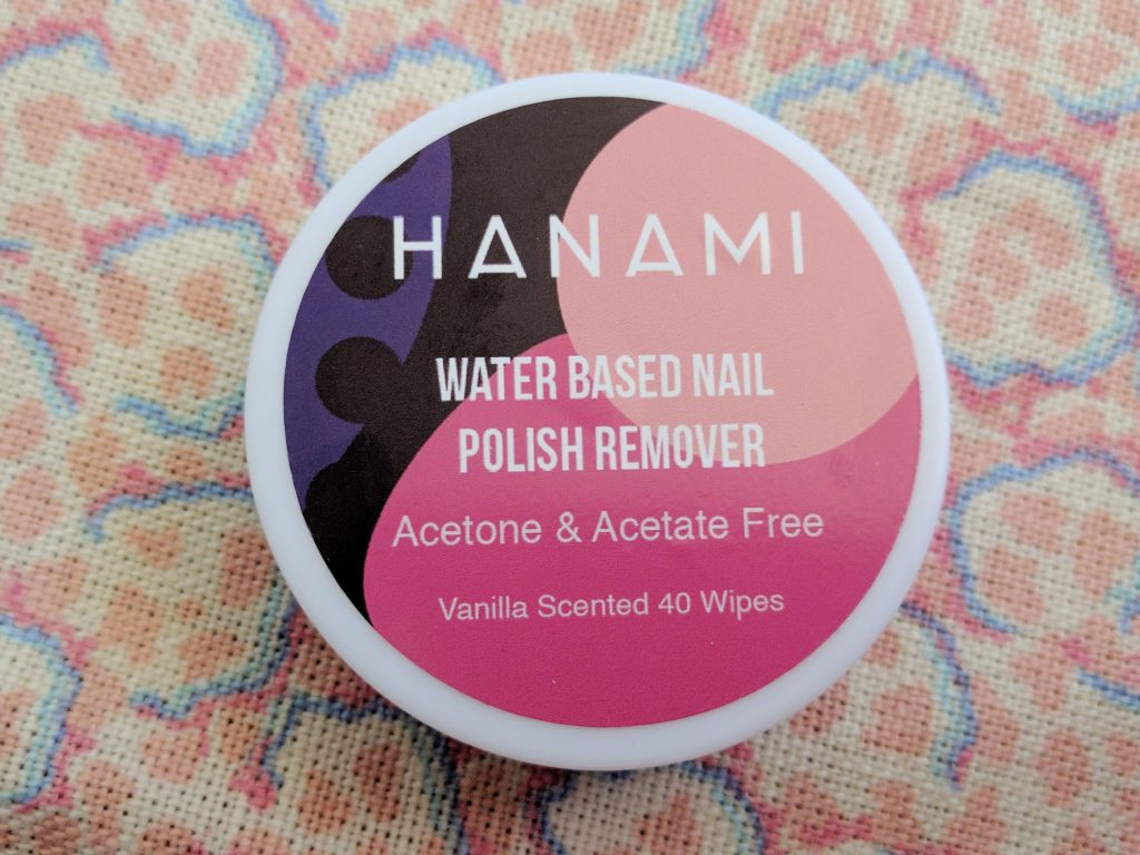hanami water based nail polish remover